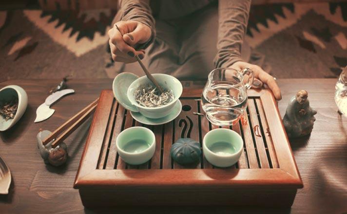 Preparar té blanco